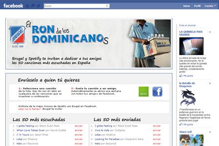 Aplicaciones Facebook Brugal