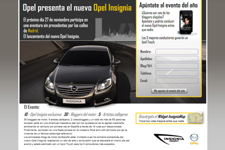 Landing pages Opel