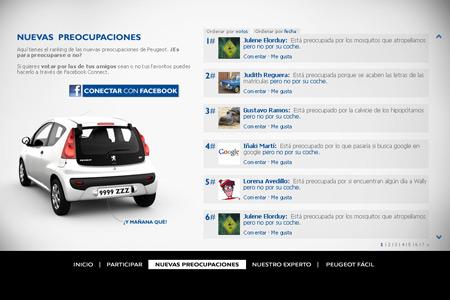 Aplicación Facebook Peugeot